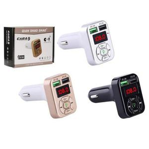 FM-адаптер A9 Bluetooth Автомобильное зарядное устройство FM-передатчик с картой Handfree MP3 плеер Поддержка TF для Samsung LG Dual USB адаптер
