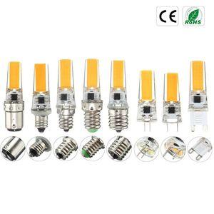 COB Regulável LED Light Bulb E12 E11 E17 G8 BA15d E14 G4 G9 Lamp Spotlight Bulb candelabro iluminação AC110 / 220V