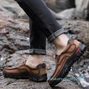 Men Shoes Guenuine Leather Men Shoes 2020 Breathable Spring Summer Casual Shoes For Man Footwear Fashion Design Heavy Flats s03