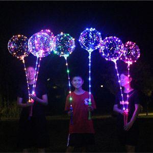 الصمام مضيئة led بوبو بالون اللمعان ضوء بالونات شفافة 3 متر سلسلة أضواء مع اليد قبضة الاطفال لعبة هدايا حزب ديكورات 05