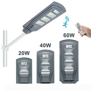 Remote Control LED Solar Street light LED garden lights 20W 40W 60W Motion Sensor Waterproof Security Lamp for Garden Yard