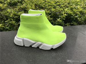 À bas prix Mode Chaussettes Chaussures Enfants Enfants Haut-Top Mercurial Chaussures Slip-On Baby Casual Entraîneur Flats Speed Triple en Noir Bleu Rouge Orange