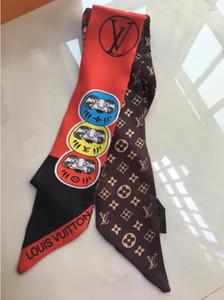 defaedge Популярная марка 100% шелк галстук моды для мужчин и женщин шелковые волосы группы оголовье классический шарф небольшой ленты печатных шелковый шарф 120 * 8 см dfhd