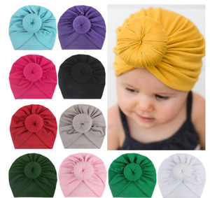 الرضع الساخنة الطفل العمامة القبعات العمامة كعكة عقدة الطفل قبعة صغيرة طفلة لينة لطيف طفل كاب