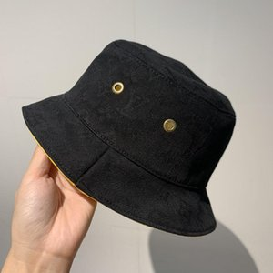 Luxury Classic Letter Belt Bucket Hats Color bar Double sided Fisherman's Hat High Quality Classic Black Yellow Men And Women Travel Sunhat