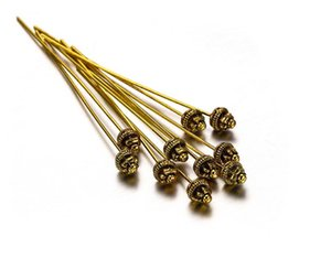 100pcs lot 50mm Metal Flower Ball Head Pins Needles Beads Connector For DIY Earrings Jewelry Making Findings Supplies Accessories