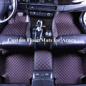 Автомобиль Напольное ковровое покрытие для Acura MDX TL 2004 2008 TL 2013 TL Type S TLX TSX MDX RDX ZDX RL RSX CDX Автоаксессуары 5D кожа водонепроницаемый ковер