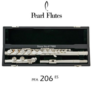 Popular Pérola Alto Flauta PFA-206 ES 16 instrumento Closed Buraco G Tune Sliver Plated Professional Musical com frete grátis caso