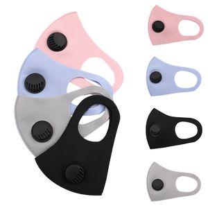Stokta var! 3-Katmanlar Nefes Geniş sapanlar Yıkanabilir Yeniden kullanılabilir Muffler ile Valve ile Unisex pamuk toz geçirmez Karşıtı PM2.5 Kirliliği Yüz Maskesi