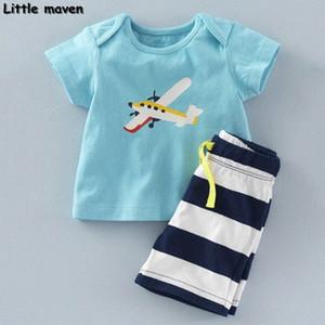 Küçük maven marka çocuk giyim 2020 yeni yaz erkek bebek giysileri pamuk düzlem baskı çocuk setleri 20082 Yiyz #