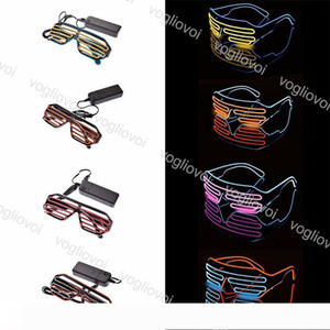 LED Glasses Light Flashing Glasses Party Supplies Lighting Novelty Gift Bright Light Halloween Festival Party Decoration EPACKET
