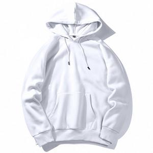 SZIE XXL PDG1623 Ropa UE PADEGAO caliente de lana sudaderas con capucha de los hombres con capucha sólido Hip Hop Streetwear color blanco con capucha del hombre