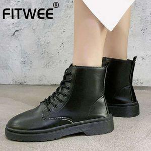 KemeKiss Kadınlar Kış Bilek Boots Lace Up Olağan Kısa Çizme Moda Sonbahar Ayakkabı Kadın Tatiller Ayakkabı Boyutu 35-40 Soğuk