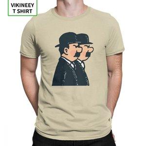 Tim Thomson Twins T-Shirt Männer 100% Baumwolle Humorous T-Shirt Die Abenteuer von Tim und Struppi T Short Sleeve Kleidung Geschenk-Idee