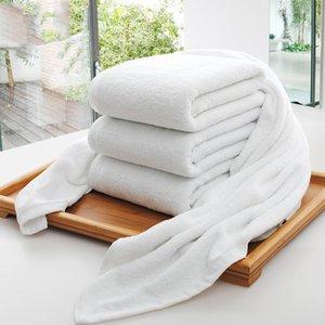 Vente en gros Hôtel Bath Serviettes Guest House 100% coton blanc Serviette unisexe Utilisation naturelle Coffre-fort Serviette de bain douce Salle de bains Fournitures DH0710