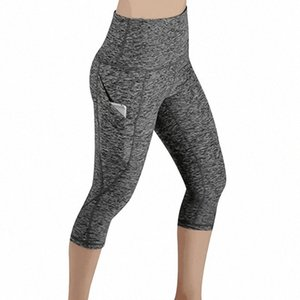 Sport Fitness Leggings Women's High Waist Elastic Push Up Gym Women Pants Jogging Legging With Pocket Cropped Trousers UpEd#