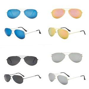 Anteojos al aire libre de metal reflectante marco gafas de sol gafas de sol frescas Gafas de sol Gafas de sol de espejo de Fasion D807 # 987
