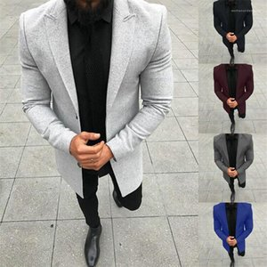 Designer Blazers Fashion Panelled Single Breasted Business Gentleman Formal Coats Casual Males Clothing Solid Color Mens