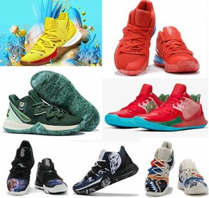 Pineapple House 5 Zapatos Kyrie PE Basketball Shoes Men For 20th Anniversary Irving 5s Graffiti x Multi-Color Sponge Sports Sneakers