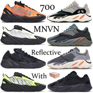웨이브 러너 (700 개) 카니 runnig 신발 솔리드 그레이 탄소 청록 블루 오렌지 Vanta를 농구 운동화 트리플 블랙 망이 트레이너 여자 반사