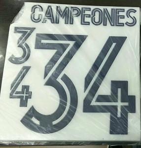 34 Campeons name sets 2019 season 34 times LaLiga Champion name and number 34 champions 2020 free shipping
