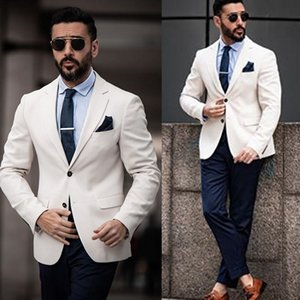 Mens Suits Custom Made Wedding Tuxedos 2020 Handsome Two Button Peaked Lapel Groom Suit Slim Fit Two Pieces Best Man Set Jacket Pants