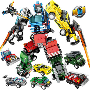 Sembo City Transformation Robot Action Figure Bricks Serbatoio militare Elicottero Technic Car Truck Building Blocks Bambini Giocattoli