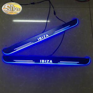 Заказные 4шт Перемещения LED педали Добра пожаловать автомобили Scuff педали Тарелки пороговой дверь Sill Тропинка света для автомобилей SEAT IBIZA 2009 - 2020 2020