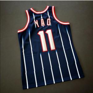 Özel Erkekler Gençlik kadınlar Vintage Yao Ming Mitchell Ness 02 03 Koleji Basketbol Jersey Boyut veya özel herhangi bir ad veya numara formayı-4XL S