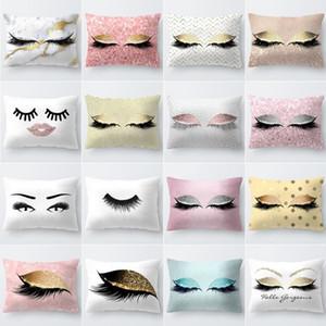 Dormir cintura Fundas de pestañas sofá fundas de cojines de almohada decorativa Throw Pillows Asiento de coche de la manga Decoración Buenos días 3 8yh B