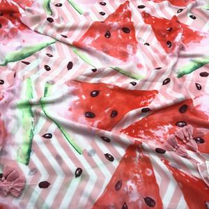 Nuevo verano de algodón y ropa de protección solar sandía rosa imprimió algodón y lino bufanda bufanda chal de viajes