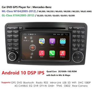 "Android10 7"" CarDVD radio GPS Navigation for ML W164 ML300 350 450 320 ML63 GL X164 GL 320 350 420 450 500 RDS car dvd"