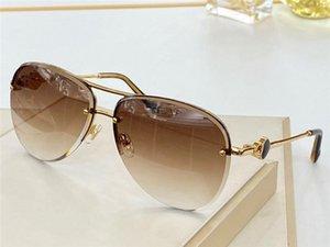 الطيار C88 نصف إطار قلبا جديدا تصميم أزياء العلامة التجارية النظارات الشمسية على شكل المعابد شعبية أسلوب الصيف UV400 النظارات الواقية