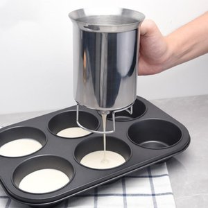 Stainless Steel Pancake Batter Dispenser Funnel Cream Speratator Kitchen Tool for Baking Cupcakes Crepes Waffles