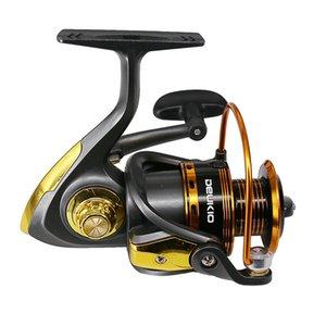 Luckinvoker Кастинг Мультипликаторы Reel катушки металла Spinning Reel Black Gold 1000-7000 Series Fishing Reel 5: 1 Макс Drag 8кг