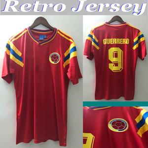 1990 colombia Retro 10 Valderrama calcio maglia 9 Guerrero Escobar via classico rosso commemorare antico Collection calcio camicia Camiseta