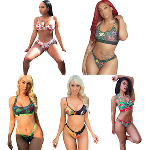 Ethika Boxers Mujeres Playa Ropa de playa Bikini Mujeres 2 piezas Ethika Set Chaleco Tanque Sujetador Swimsuit Beach Playa Play Plaid Swim Suits Tankinis DHL L1675