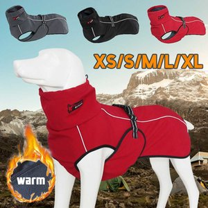 Pet Big Large Jacket Coat Winter Soft Warm Fleece Retriever Waterproof Thickening Cotton Clothes For Dog T200710