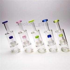 8 pouces en verre de couleur Bong accessoires pour dab fumée accessoire livraison narguilés mondial