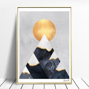 Nordic Wall Art Geometric Prints Posters Minimalism Oil Painting Wall Pictures for Living Room Scandinavian Kid's Room Decoration