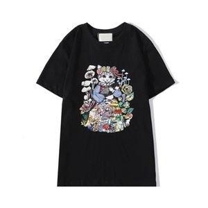 20ss Herren Designer-T-Shirt Art und Weise neu Katzen-Muster Tops Sommer-Junge-Sushi Pilz-T-Shirt Mädchen Hiphop Street