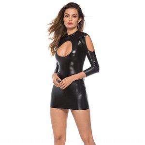 Sectional mirror Underwear leather sexy underwear bright patent leather jumpsuit pole dance nightclub uniform temptation