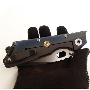 """Mejores EDC Mick Strider personalizada MSC XL # 9 Tanto Cuchillo color titanio Handle 4.25"""" Herramientas cuchillo plegable de la lámina de prelavado abrasivo S35VN pesadilla"""