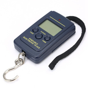 100pcs 40kg 10g Portable Digital Scales LCD Display Hanging Hook Luggage Fishing Weight Scale Household Portable Airport Electronic Scales