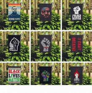 16 styles i can't breathe Black Lives Matter Flag yard flag outdoor home for parade party supplies garden flag 45*30CM 6089