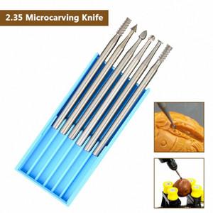 Microcarving سكين الزيتون نحت سكين مجموعة الصغرى، وسكين آلة الحفر 6PCS 2.35MM قطر الأزيز لDREMEL أداة الروتاري ERHV #