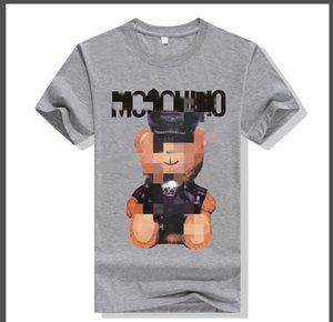 Top designer quality Cotton Fun Men T-shirts Casual brandMòschino Short sleeve men T-shirts Fashionable neck cool men T-shirts