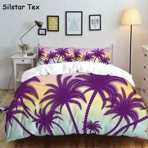 Silstar Tex coloré Palm Double Literie Nouvelle Linen draps Literie Nordic Cover Duver Taie Chambre