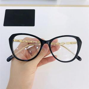 2020 nuevas mujeres súper bonitas mariposa / pequeños Cateye CH8047 Fullrim Glasses Frame 54-17-145 Pierna de cristal para gafas de prescripción Caja completa