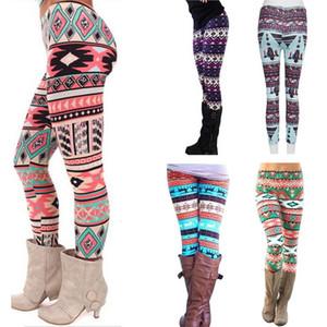 Womens Spring Casual Leggings 2020 Hot Sale Girl Spring Pants Bottoms Snowflake Christmas Deer Print Leggings Women Clothing Jeggings